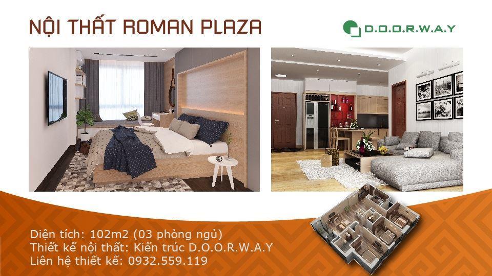 Ảnh tiêu biểu- Mẫu nội thất căn hộ 102m2 Roman Plaza đẹp ấn tượng năm 2019