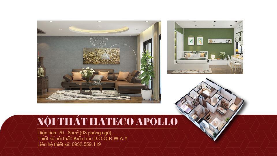Ảnh tiêu biểu- Mẫu thiết kế nội thất căn 3 phòng ngủ Hateco Apollo