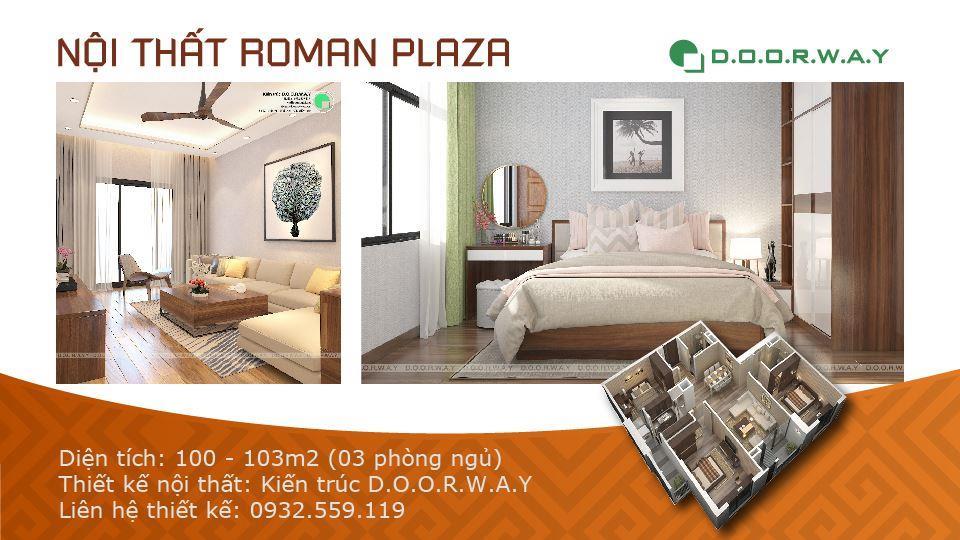 Ảnh tiêu biểu- Nội thất căn 3 phòng ngủ Roman Plaza cho gia đình nhiều thành viên