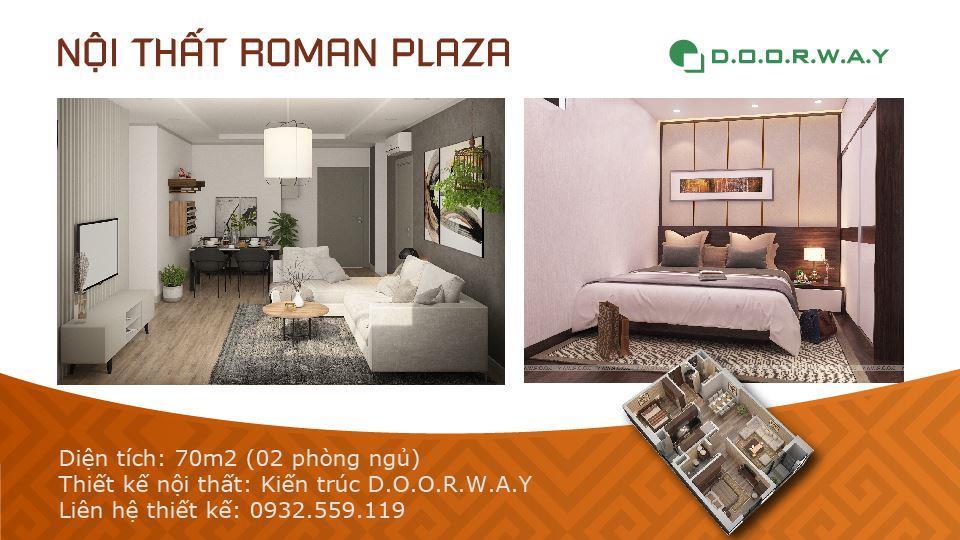 Ảnh tiêu biểu- Mẫu thiết kế nội thất căn hộ 70m2 Roman Plaza - 2019