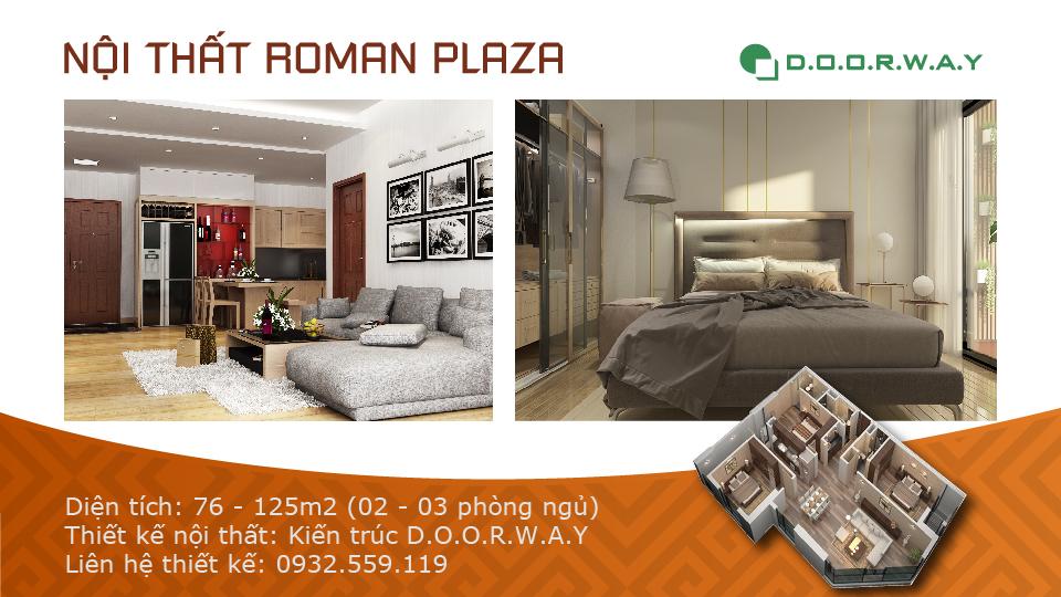 Ảnh tiêu biểu- Mẫu thiết kế nội thất chung cư Roman Plaza với nhiều sự chọn lựa