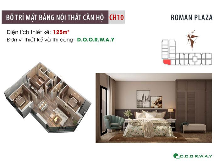 MB-125m2-3PN- Mẫu thiết kế nội thất chung cư Roman Plaza với nhiều sự chọn lựa