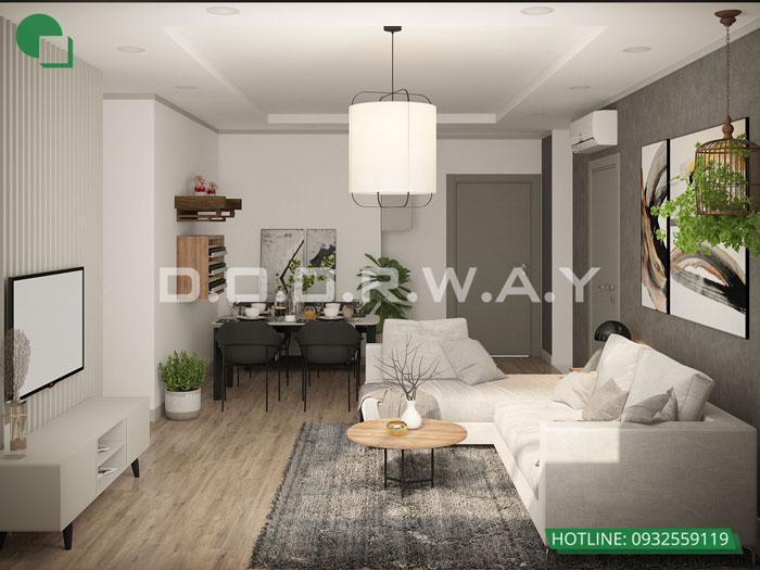 PK(1)- Mẫu thiết kế nội thất căn hộ 70m2 Roman Plaza - 2019