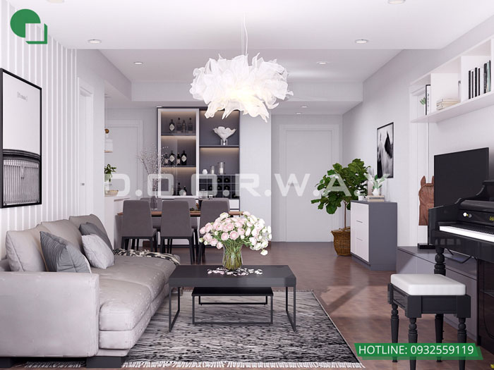 PK2- Mẫu thiết kế nội thất chung cư Roman Plaza với nhiều sự chọn lựa