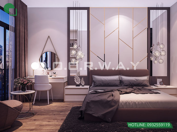 PN1(1)- Nội thất căn 3 phòng ngủ Roman Plaza cho gia đình nhiều thành viên