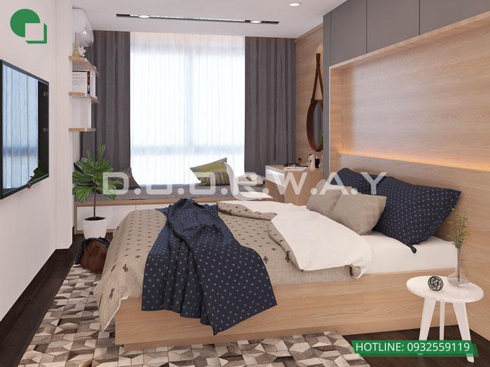 PN1(1)- Mẫu nội thất căn hộ 102m2 Roman Plaza đẹp ấn tượng năm 2019