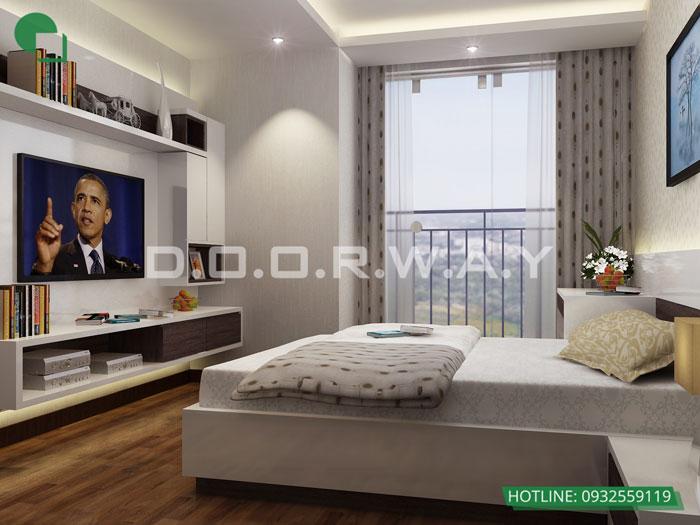 PN1(2)- Mẫu thiết kế nội thất căn hộ 70m2 Roman Plaza - 2019
