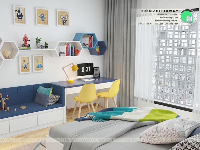 PN2(2)- Mẫu thiết kế nội thất căn 3 phòng ngủ Hateco Apollo