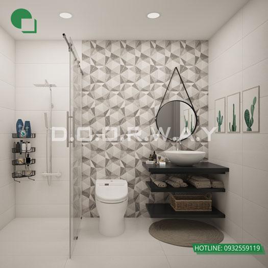 WC-chung- Mẫu căn hộ phong cách Scandinavian tại chung cư Times city - chị Phương