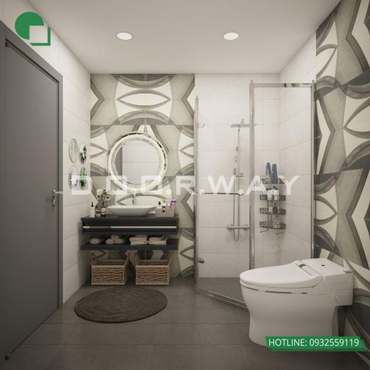 WC-master- Mẫu căn hộ phong cách Scandinavian tại chung cư Times city - chị Phương