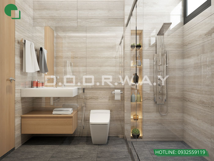 WC- Nội thất căn 3 phòng ngủ Roman Plaza cho gia đình nhiều thành viên