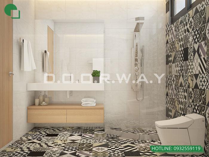 WC- Mẫu nội thất căn hộ 102m2 Roman Plaza đẹp ấn tượng năm 2019