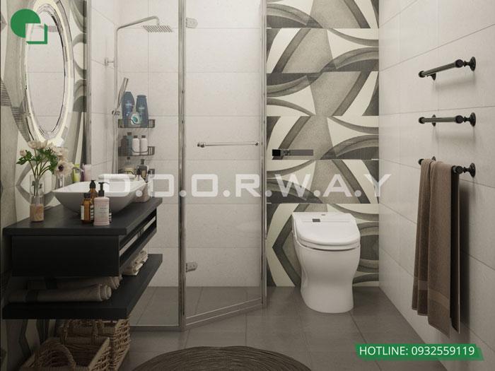 WC2- Mẫu thiết kế nội thất căn 3 phòng ngủ Hateco Apollo