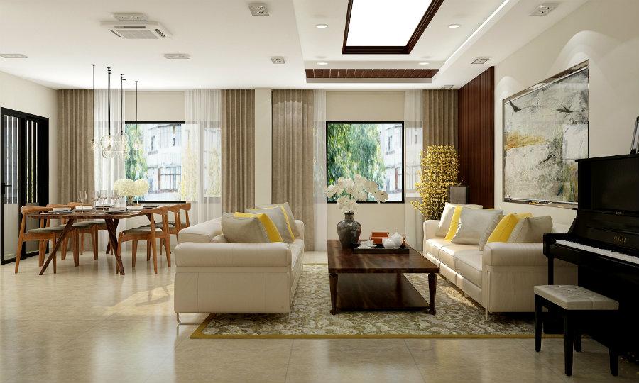 Ảnh tiêu biểu- Gợi ý cách thiết kế nội thất phòng khách liền phòng ăn cho không gian rộng mở