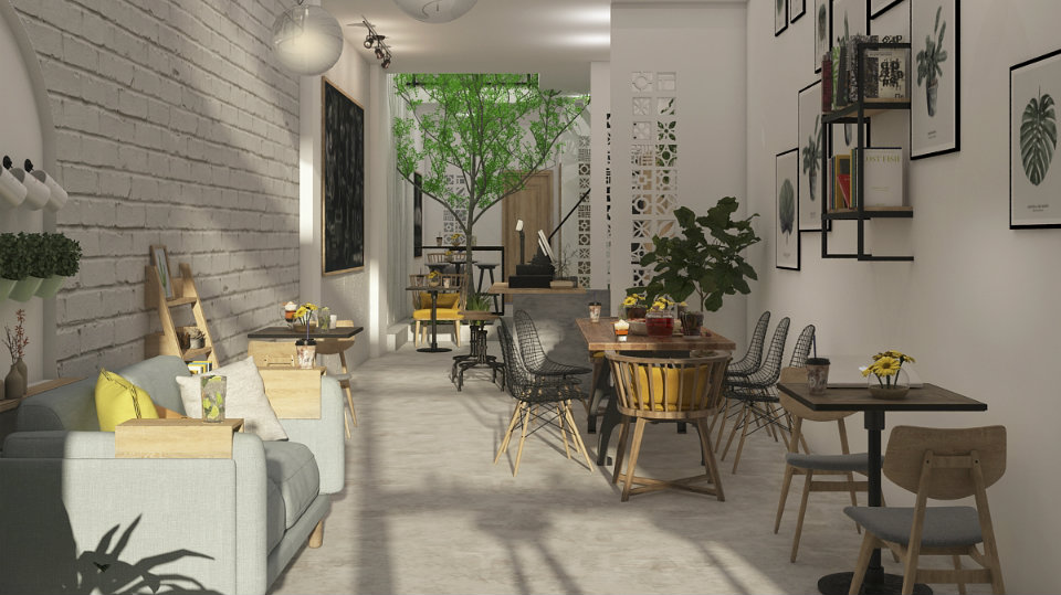 Ảnh tiêu biểu- 3 lời khuyên hữu ích thiết kế quán cafe không gian hẹp