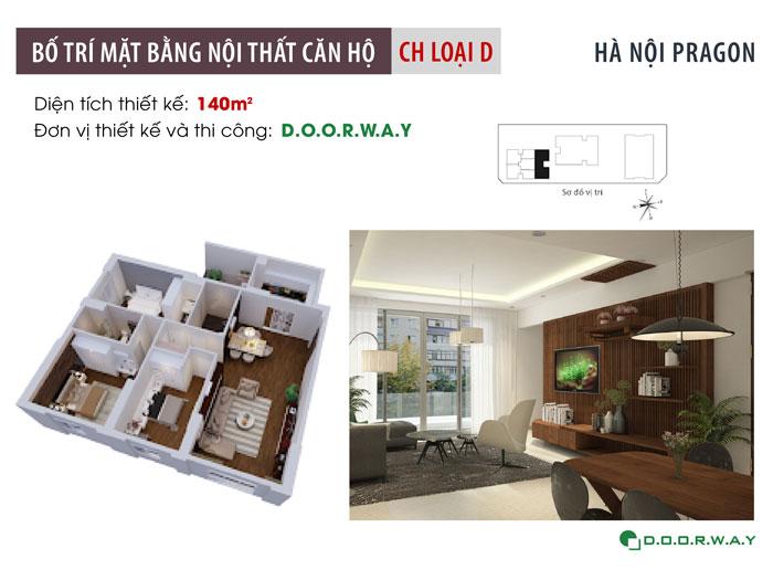 1-nội thất căn hộ 140m2 Hà Nội Paragon
