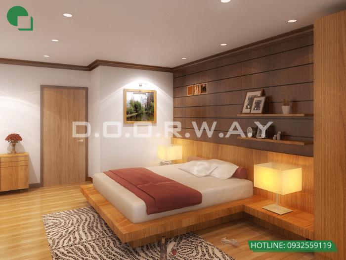 1- Làm thế nào để thiết kế phòng ngủ 16m2 có toilet thật thông minh?