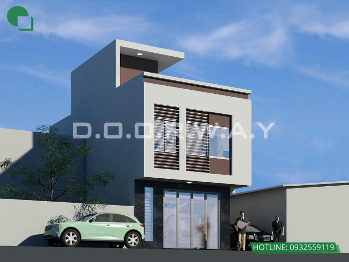 2- Mẫu thiết kế nhà 6mx12m 2 tầng full nội thất tại Hà Nội