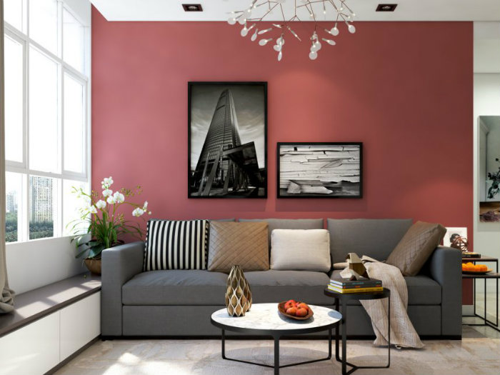 3- Giải pháp thiết kế căn hộ 48m2 2 phòng ngủ tối ưu không gian