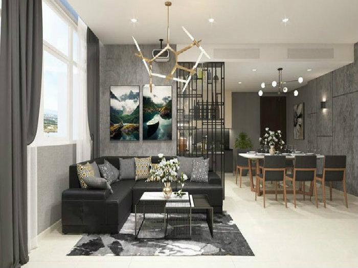 4- Giải pháp thiết kế căn hộ 48m2 2 phòng ngủ tối ưu không gian