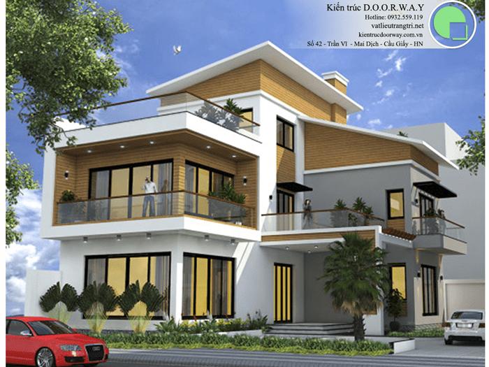 4 - thiết kế nhà đẹp 2 tầng 70m2