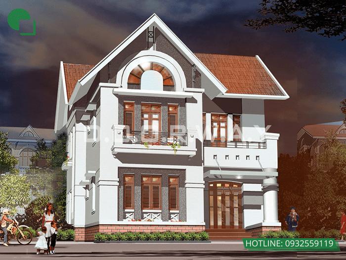 5 - thiết kế nhà đẹp 2 tầng 70m2