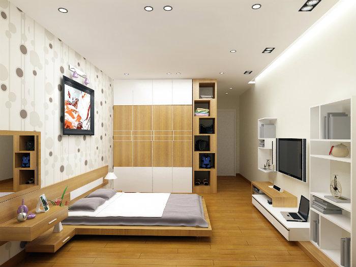 6- Giải pháp thiết kế căn hộ 48m2 2 phòng ngủ tối ưu không gian