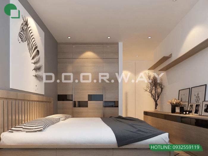 7- Làm thế nào để thiết kế phòng ngủ 16m2 có toilet thật thông minh?