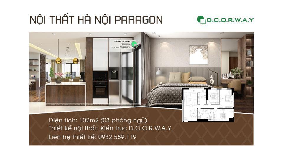 Anhtieubieu- Khám phá mẫu nội thất căn hộ 102m2 Hà Nội Paragon