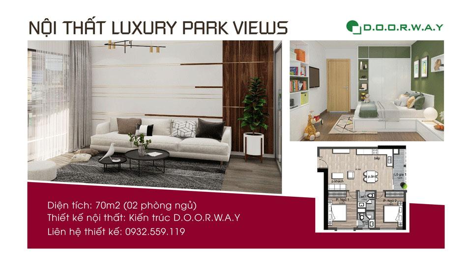 Ảnh tiêu biểu- Gợi ý mẫu thiết kế nội thất căn hộ 70m2 Luxury Park View