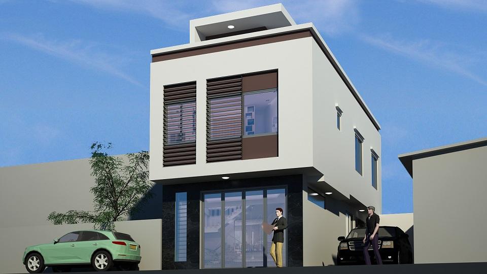 Ảnh tiêu biểu- Mẫu thiết kế nhà 6mx12m 2 tầng full nội thất tại Hà Nội