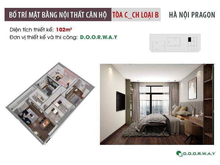 MB-102m2- Khám phá mẫu nội thất căn hộ 102m2 Hà Nội Paragon