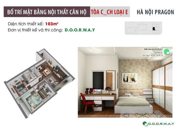 MB-103m2 - Chọn đồ nội thất căn 3 phòng ngủ Hà Nội Paragon