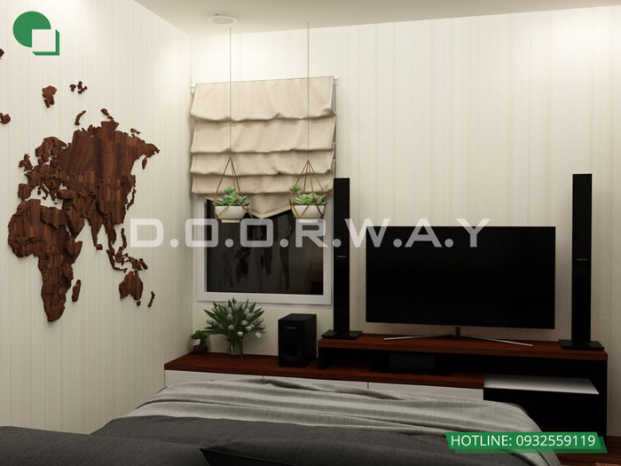 PN1(2)- Thiết kế nội thất căn hộ 59m2 Hateco Apollo - Căn hộ A1