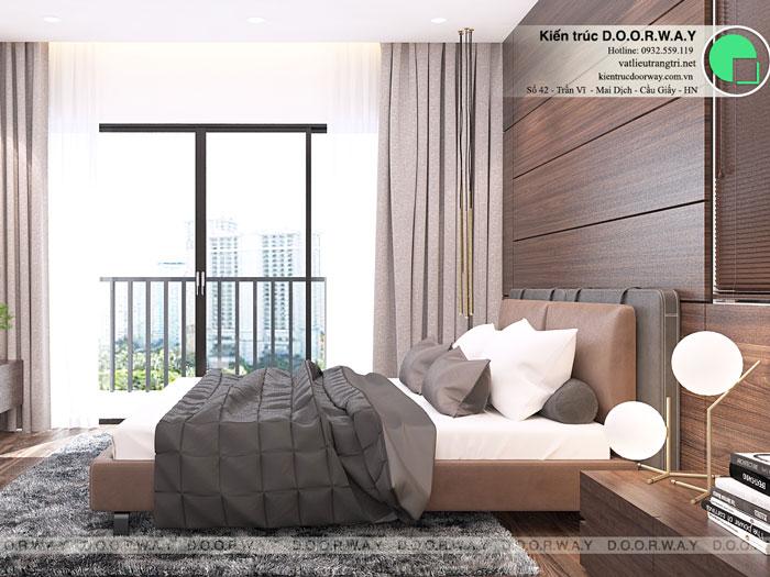 PN1(2)- Nội thất căn hộ 89m2 Hà Nội Paragon cho vợ chồng trẻ