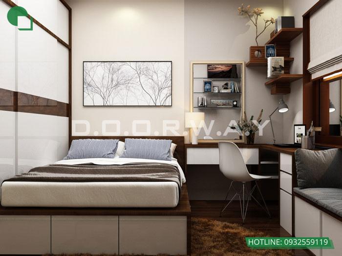 PN2(1)- Thiết kế nội thất căn hộ 59m2 Hateco Apollo - Căn hộ A1