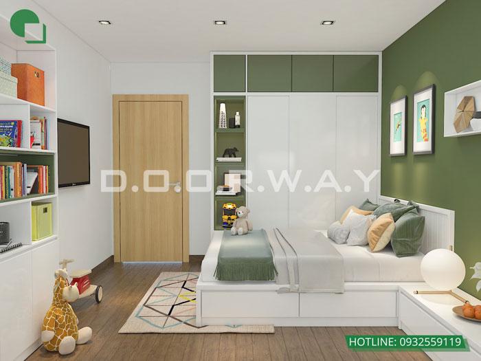 PN2(2)- Xem ngay mẫu nội thất căn hộ 107m2 Hà Nội Paragon - 3PN đẹp
