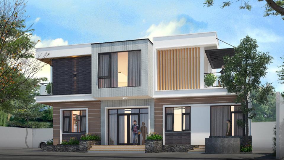 Ảnh tiêu biểu- Mách bạn cách thiết kế biệt thự 2 tầng mái bằng tiết kiệm chi phí