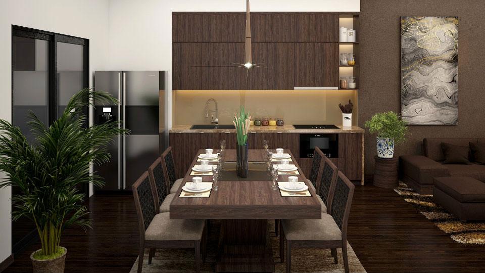 Ảnh tiêu biểu- Bật mí cách thiết kế phòng ăn và bếp vạn người mê