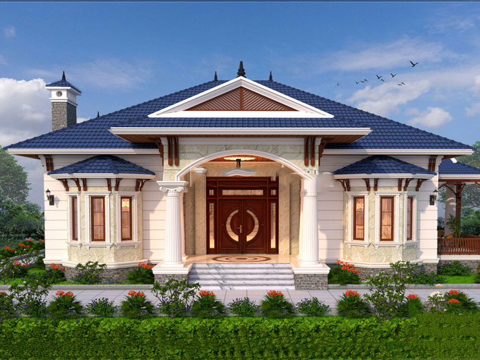 2-thiết kế biệt thự phong cách tân cổ điển