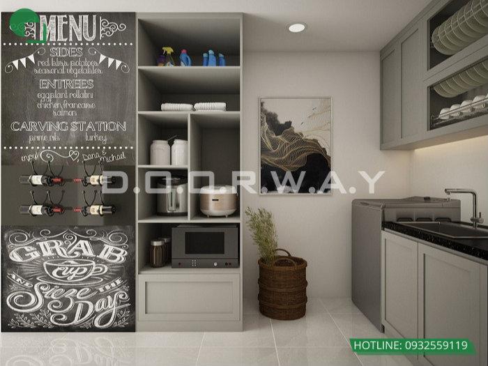 2- Gợi ý mẫu thiết kế nội thất phòng bếp chị em phụ nữ nào cũng thích mê