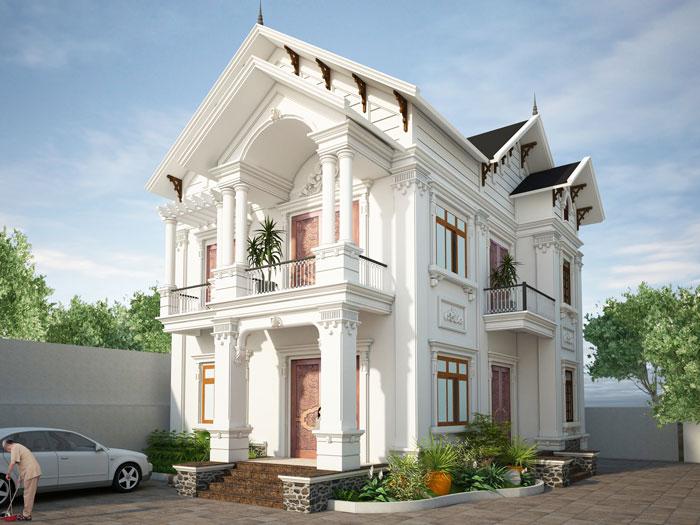 3-thiết kế biệt thự phong cách tân cổ điển