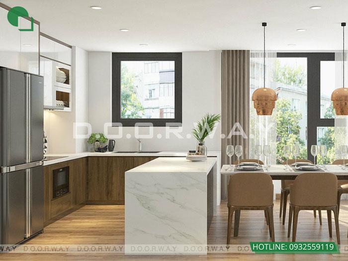 6- Gợi ý mẫu thiết kế nội thất phòng bếp chị em phụ nữ nào cũng thích mê