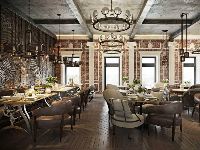 6- Mách bạn thiết kế nhà hàng phong cách châu Âu hiện đại sang chảnh