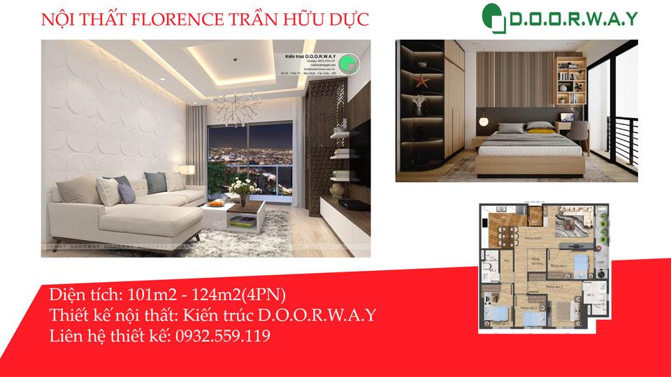 Ảnh tiêu biểu- Các mẫu thiết kế nội thất căn 4 phòng ngủ Florence đẹp