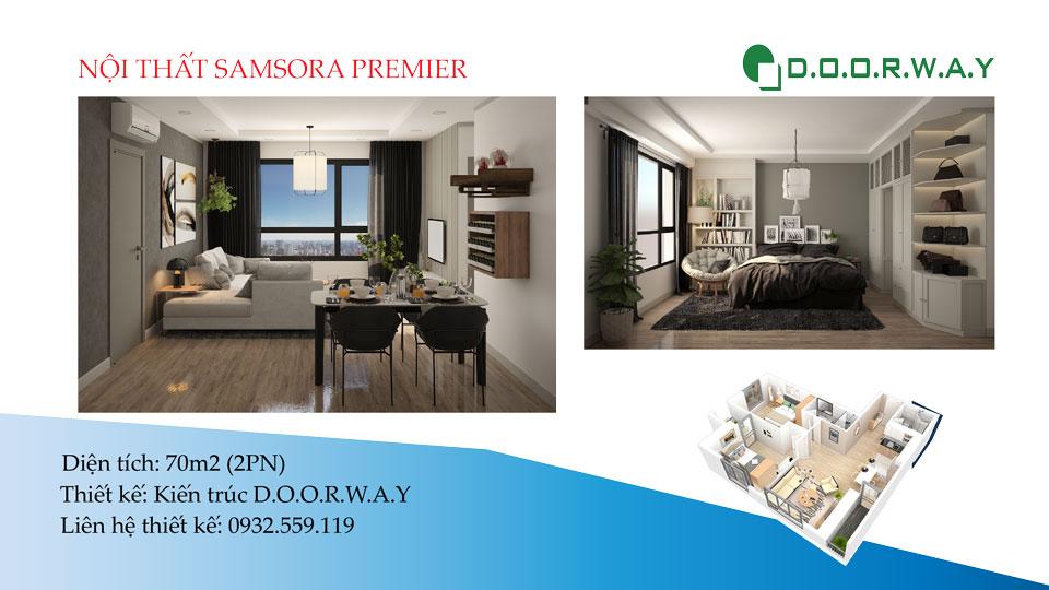 Ảnh tiêu biểu- Dấu ấn Bắc Âu trong nội thất căn hộ 70m2 Samsora Premier