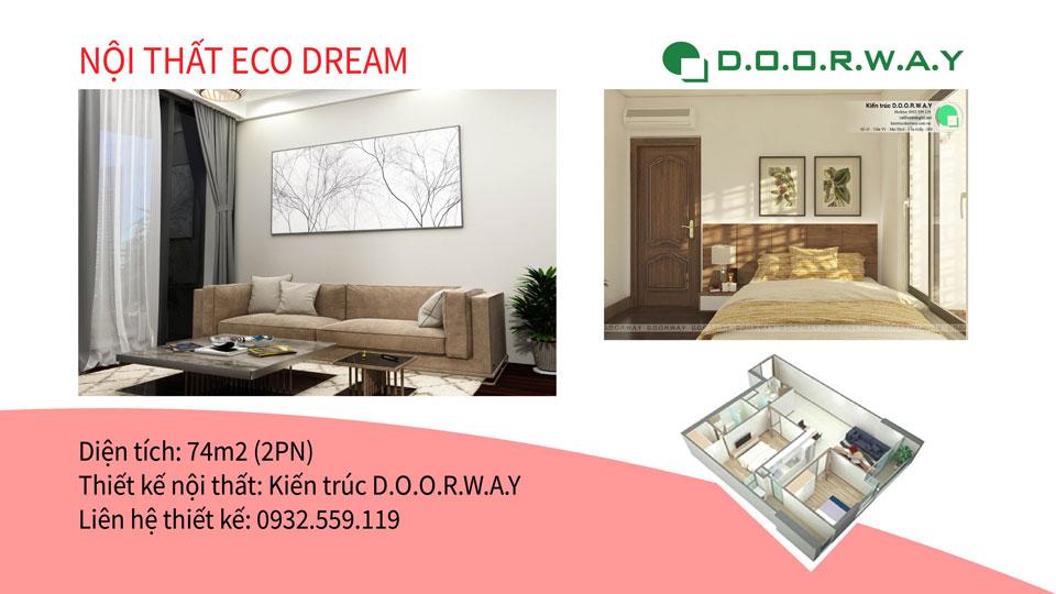 Ảnh tiêu biểu- Mẫu thiết kế đơn giản cho nội thất căn hộ 74m2 Eco Dream