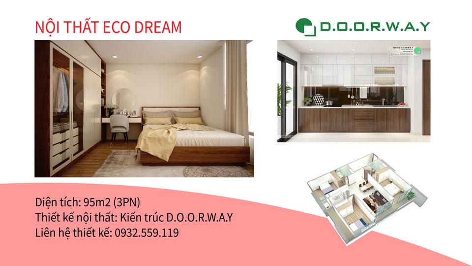 Ảnh tiêu biểu- Gợi ý mẫu nội thất căn hộ 95m2 Eco Dream với 3PN tiện nghi