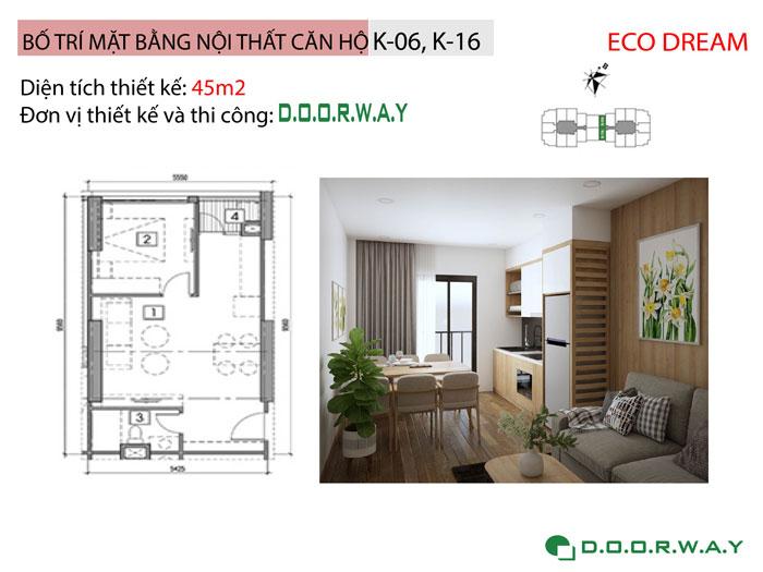 MB-45m2- [Xem ngay] Thiết kế nội thất chung cư Eco Dream đẹp nhất hiện nay