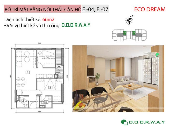 MB-66m2- Cách chọn đồ nội thất căn 2 phòng ngủ Eco Dream 2019